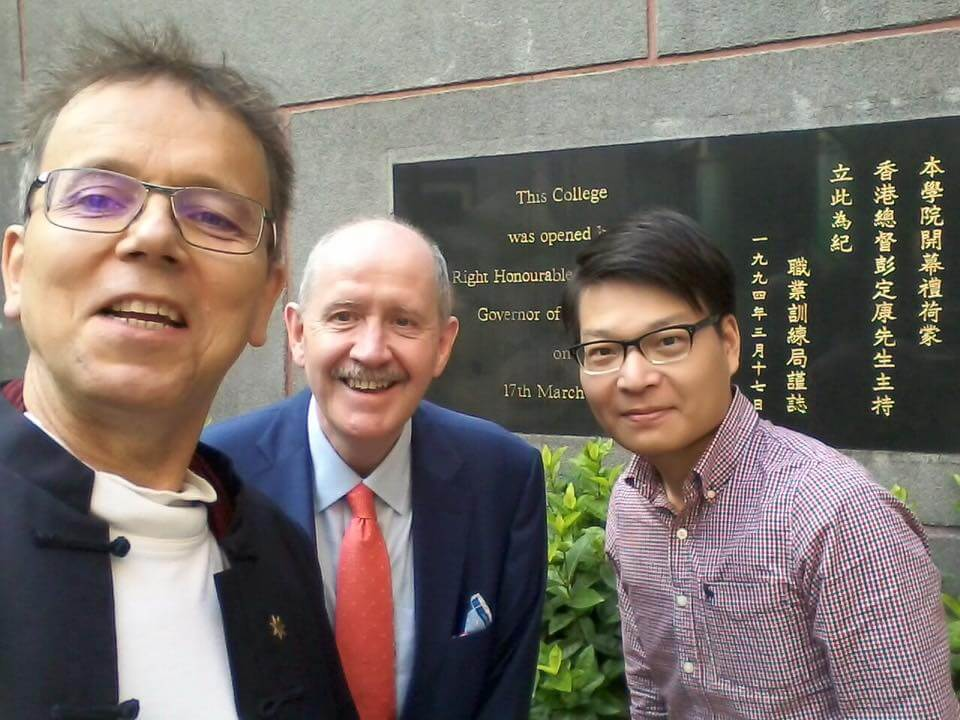 Dr. Heiko Rudolph of RMIT and Fucheng Li of Digilent with Robert Owen at IVE, Tsing Yi, Hong Kong October 2017