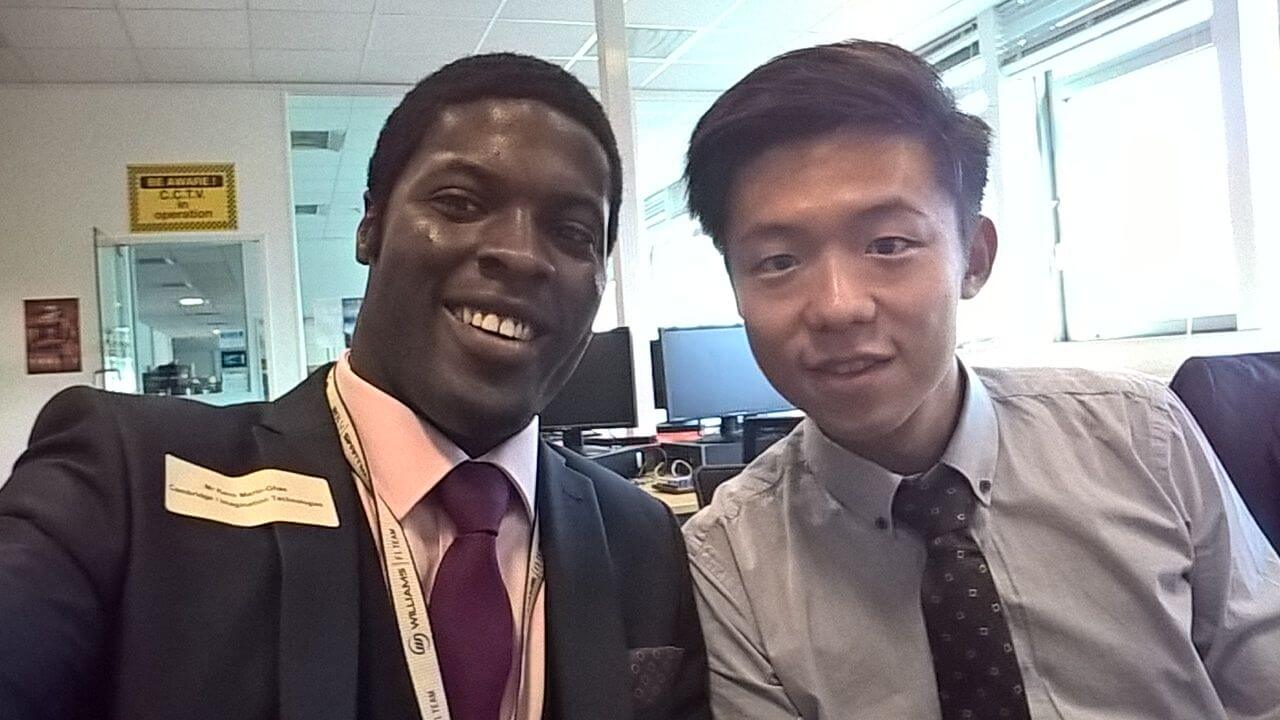 Recruits Keno Mario-Ghae & Laurence Keung at the Imperial MIPSfpga Workshop Aug. 2015