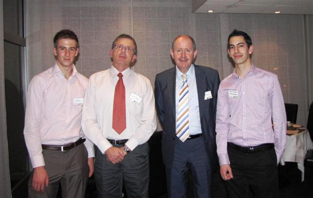 EDERC 2010 Conference in Nice: Robert Owen with Interns Adam Pavey & Sergio Ortega, with Instructor Jacob Fainguelernt of Tel Aviv University