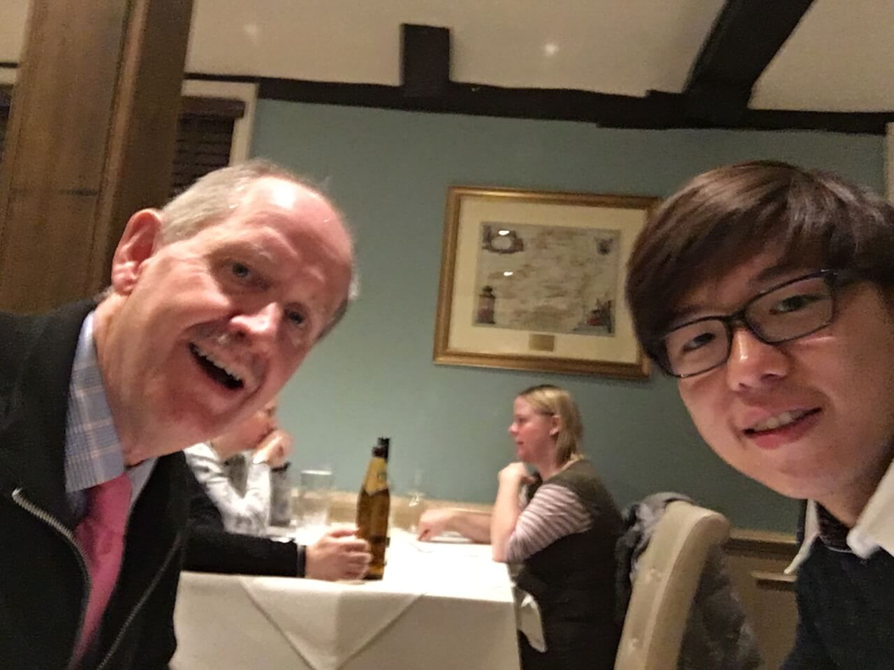 EWME Conference, Southampton. Laurence Keung with Robert Owen. May 2016