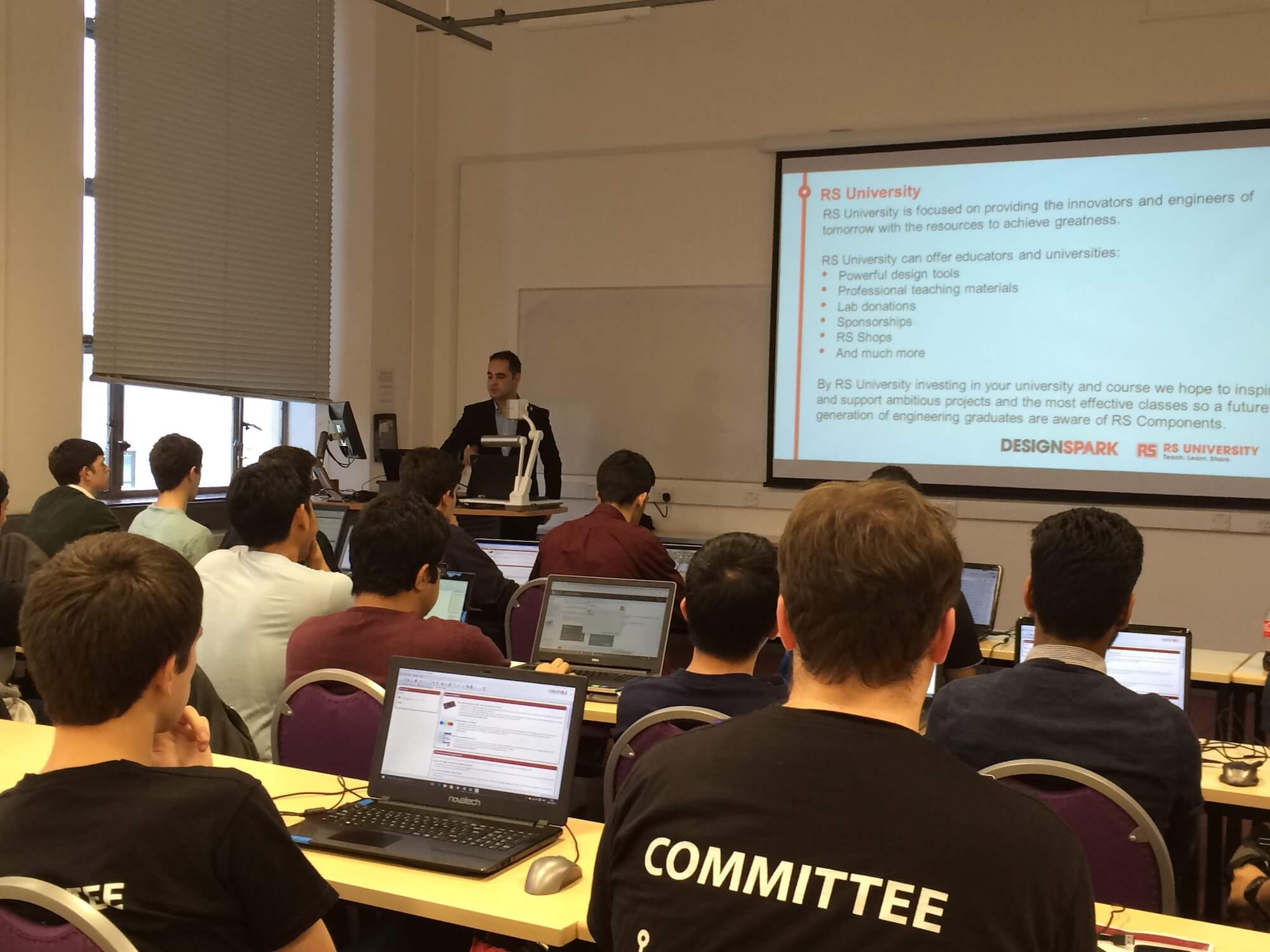 RSU - 'RS University' - Manager, Mitch Da Silva, presenting at Bristol University. October 2015