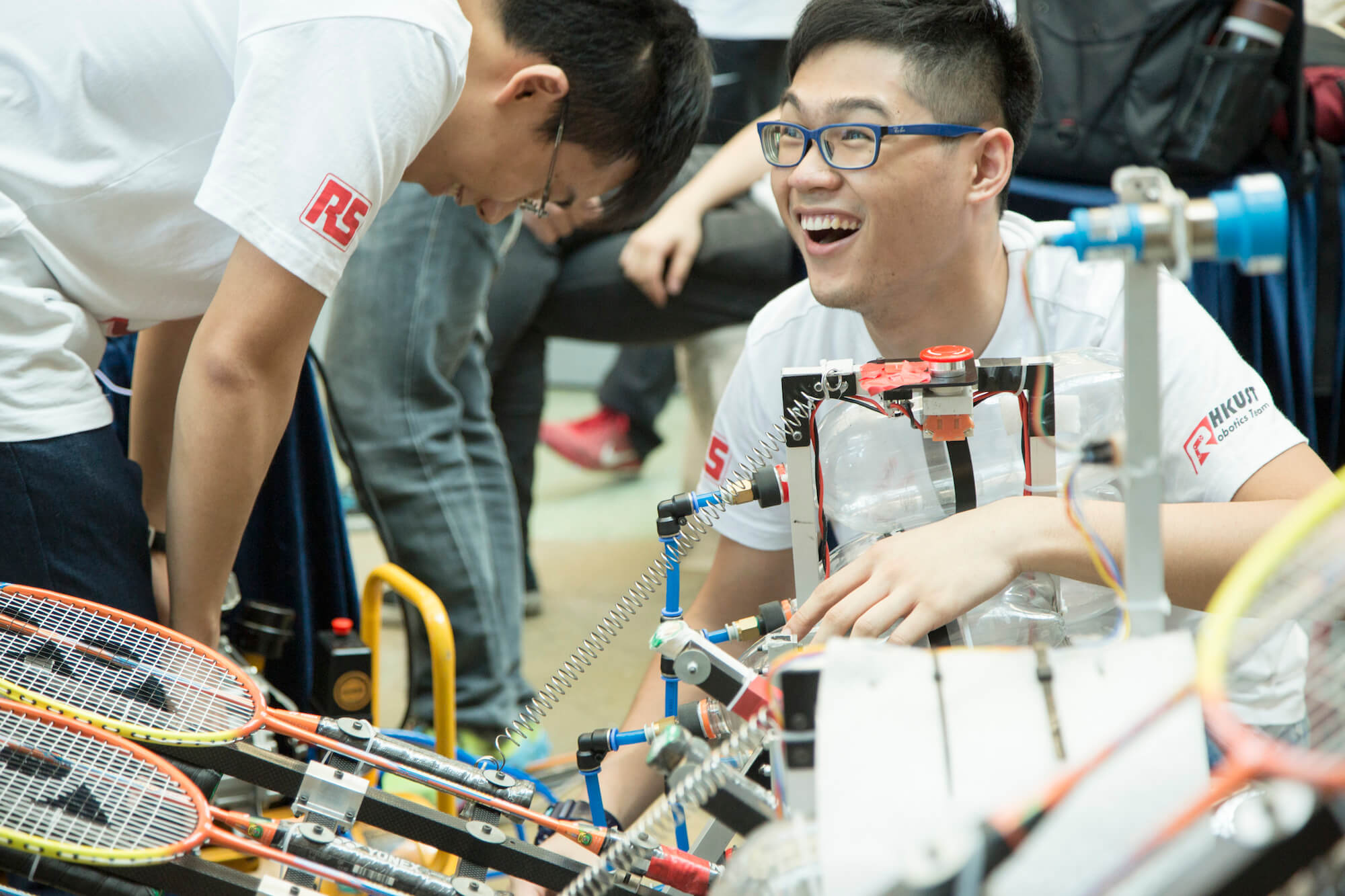 Annual 'Robocon' sponsored by RS at HKUST, Hong Kong. June 2015