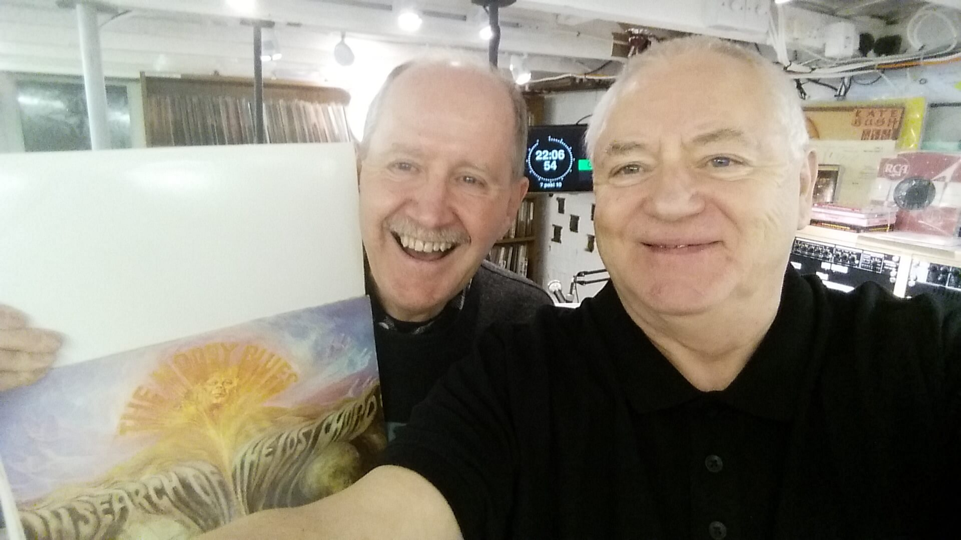 Robbie Owen & Mike Grant at the Magic Echo Studio, March 2018
