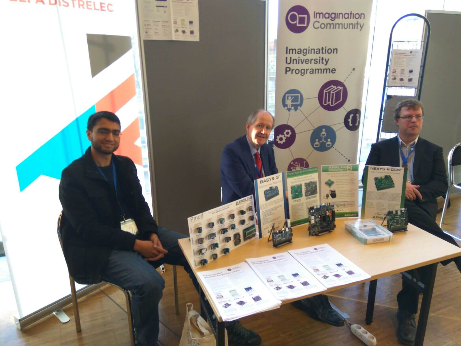 Imagination Booth at the HiPEAC 2017 Conference, Stockholm. Jan. 2017