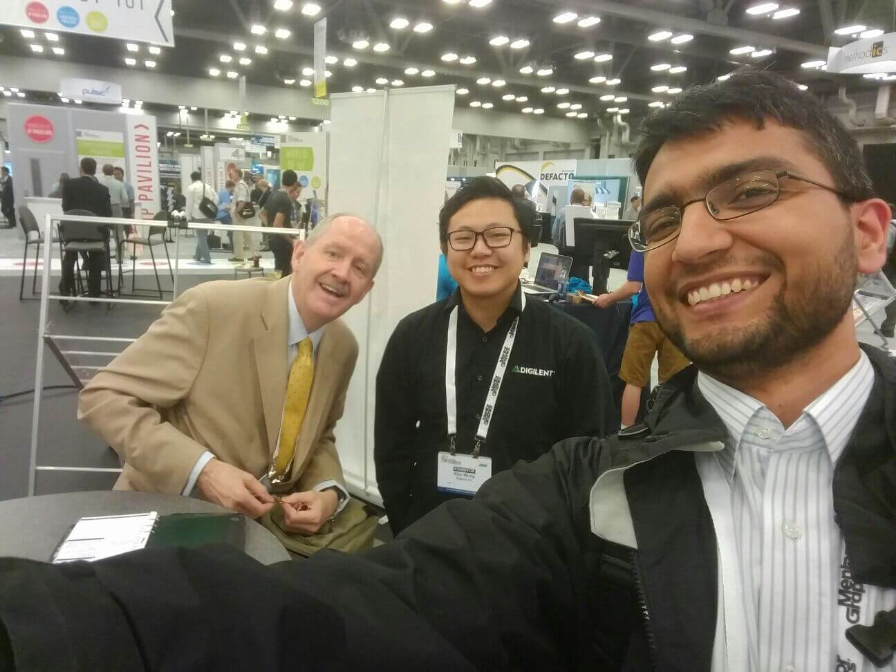 Robert Owen with Alex Wong of Digilent and Zubair Kakakhel of Imagination at the Design Automation Conference - DAC - Austin, Tx, USA. June 2016