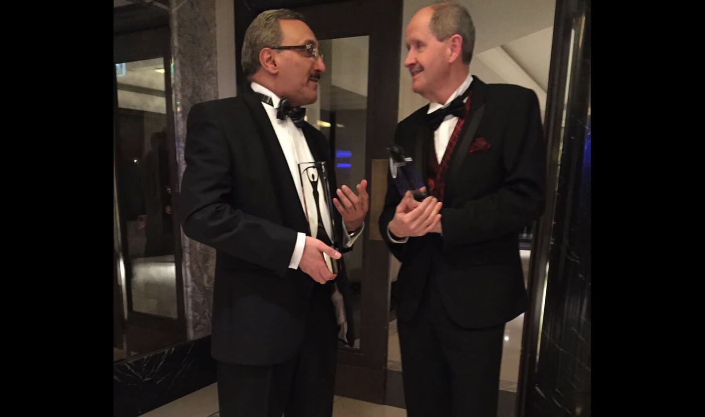 Imagination CEO, Sir Hossein Yassaie with Robert Owen at the Elektra Awards 2015