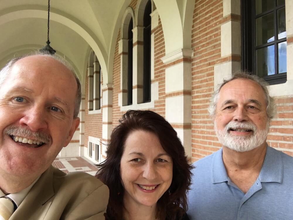 Rice University, Houston Tx, USA. Cathy Wicks of TI, Prof Gene Frantz and Robert Owen, Juune 2016