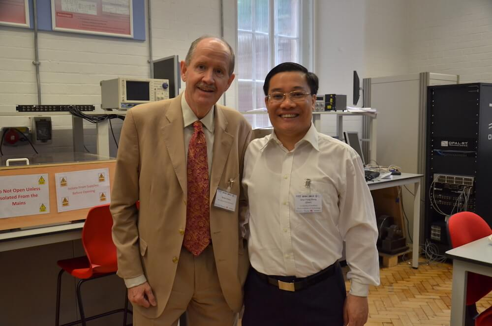 Prof. Q-C Zhong at Sheffield, with Robert Owen, for the International Future Energy Challenge. July 2015