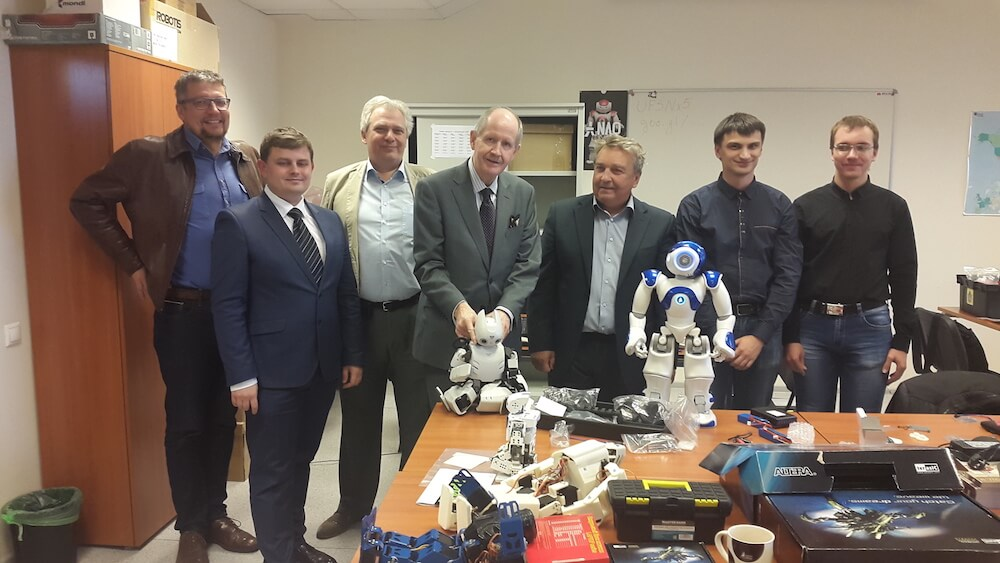 Visit to MIEM's Robotics Lab in Moscow, September 2017